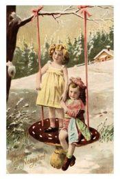Mushroom swing Victorian girls