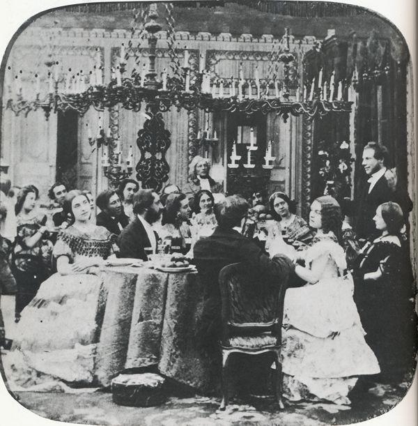 Dinner Menu Party Victorian