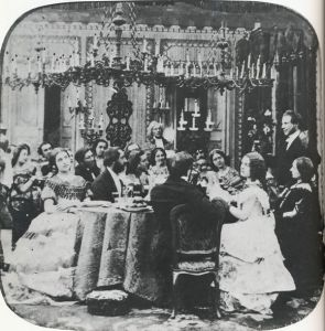 Victorian dinner party 1860