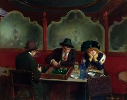 The Backgammon Players by Jean Beraud 1849-1935