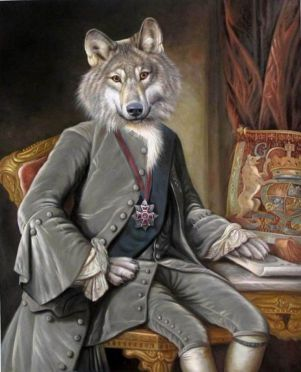 Wolf as Colonial man