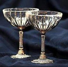 Antique champagne Glasses