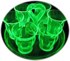 Green Depression Optic Shot Glasses