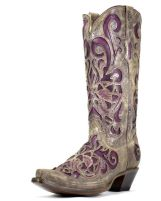 Purple Cowboy boot
