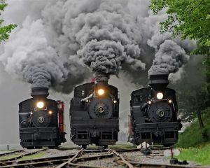 3 locomotives