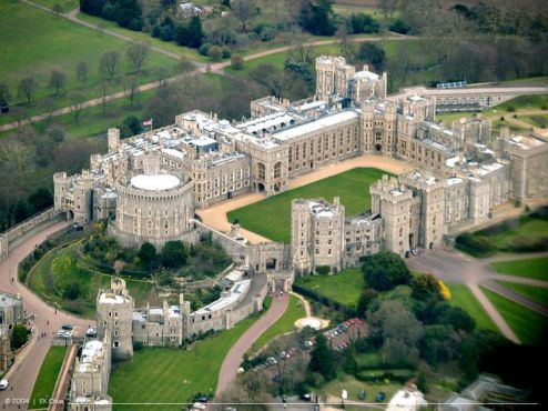 Windsor Castle seen from above