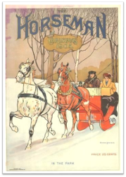 1905 Horseman mag Sleigh horses couple