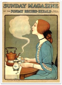 1905 Sunday Mag Tea Woman steam kiss