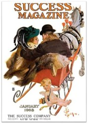 1908-Jan Success mag Sleigh Couple
