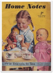 1940s Home Notes Girl tea party
