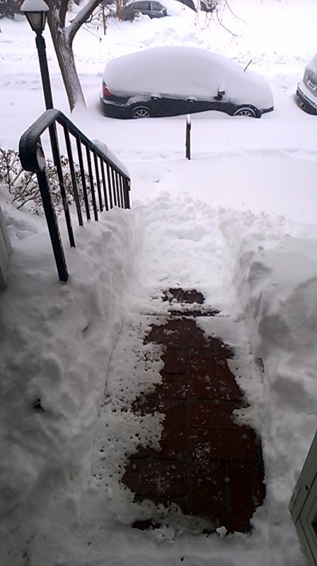 2016 Blizzard covered front porch