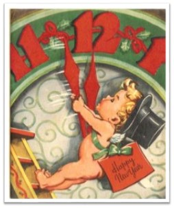 Baby New Year clock-hands