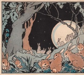 Vintage Rabbits Moon