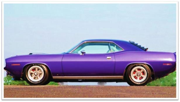 1970 Hemi Cuda purple