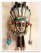 Bolo Silver Zuni Chief Headdress