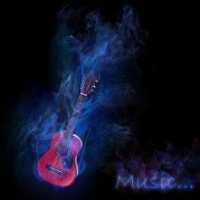 Guitar-blue-flame dreamstime_m_15806645