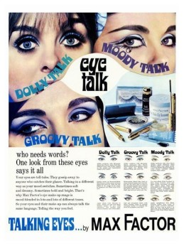 Max Factor eye makeup ad 1969