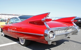 Tail-fin-Red-Cadillac_dreamstime_m_30410578