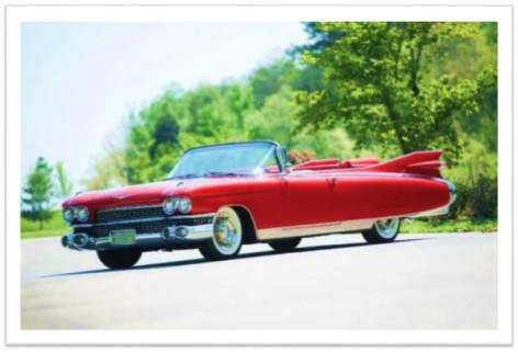 1959 Cadillac Convertible Red