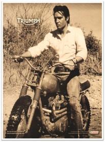 Elvis Triumph motor ad