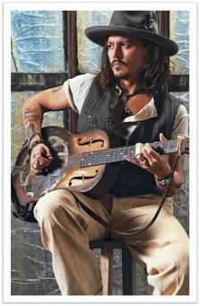 Johnny Depp Guitar hat