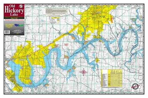 Old Hickory Lake Map