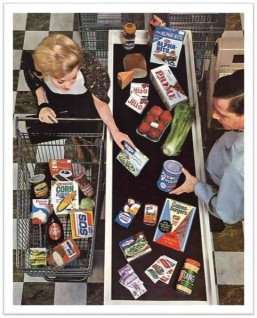 1960s Grocery check-out
