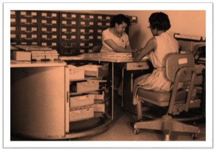 Aerial Film Control File clerks 1960s