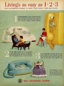 Bell ad multi wall phone