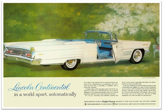 1960 Lincoln Continental white ad