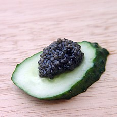Black Caviar and Cucumbers