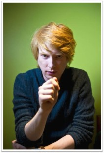 Domhnall Gleeson frown fist