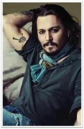 Johnny Depp smirk skull