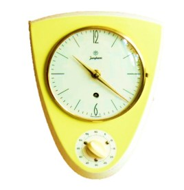 Kitchen clock yellow retro