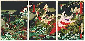 Susanoo slaying the Yamata no Orochi by Toyohara Chikanobu