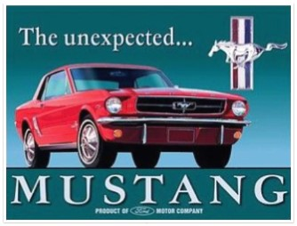 1965 Mustang ad red