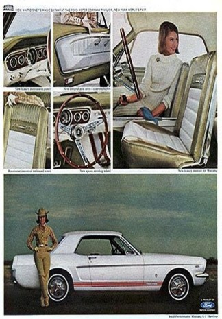 1965 Mustang GT inside-out ad