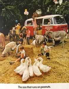 1970 Volkswagen bus Zoo ad