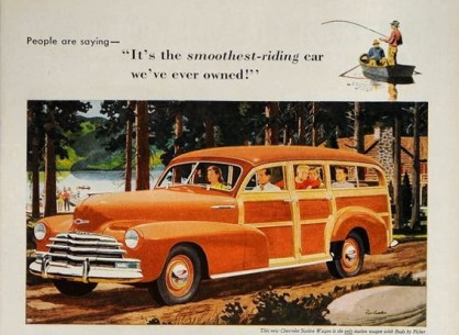 Chevrolet Fleetmaster Woody ad 1947