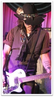 Depp guitar hat head-down