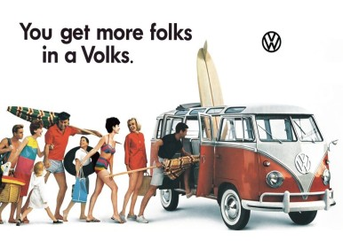 VW Bus ad 1960s