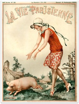 la-vie-parisienne-sept-1926-woman-pig-farm