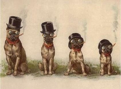pugs-4-smoking-vintage