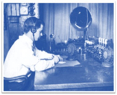 1928 Detroit police radio Blue