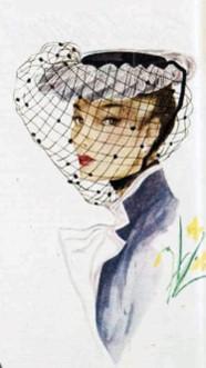 Hat veil ad 1930s