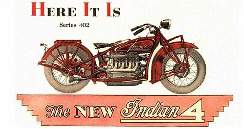 Indian 4 motorcycle ad