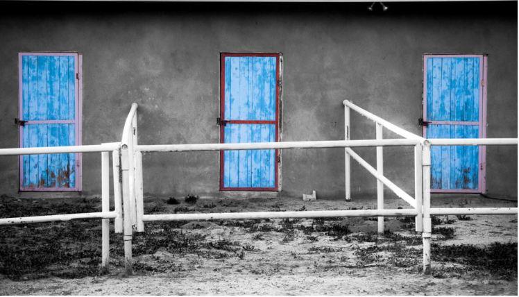 3 Doors BW Blue Tim Price