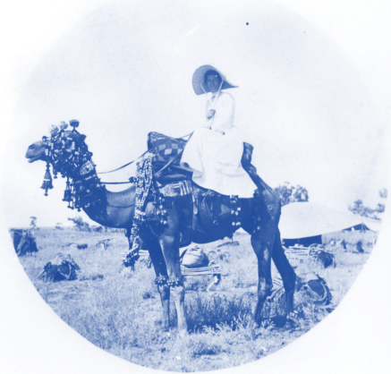 1880 Blue_woman_on_a_camel Queensland Australia