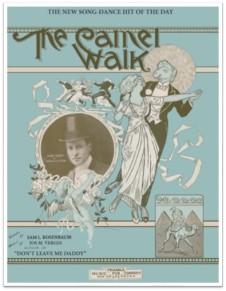 Camel Walk dance poster 1920s