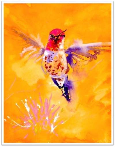 Orange Single Hummer Janet Weight Reed